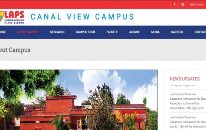 LAPS Canal View Campus Website is launched