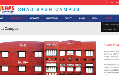 The Website of LAPS Shad Bagh Campus launched