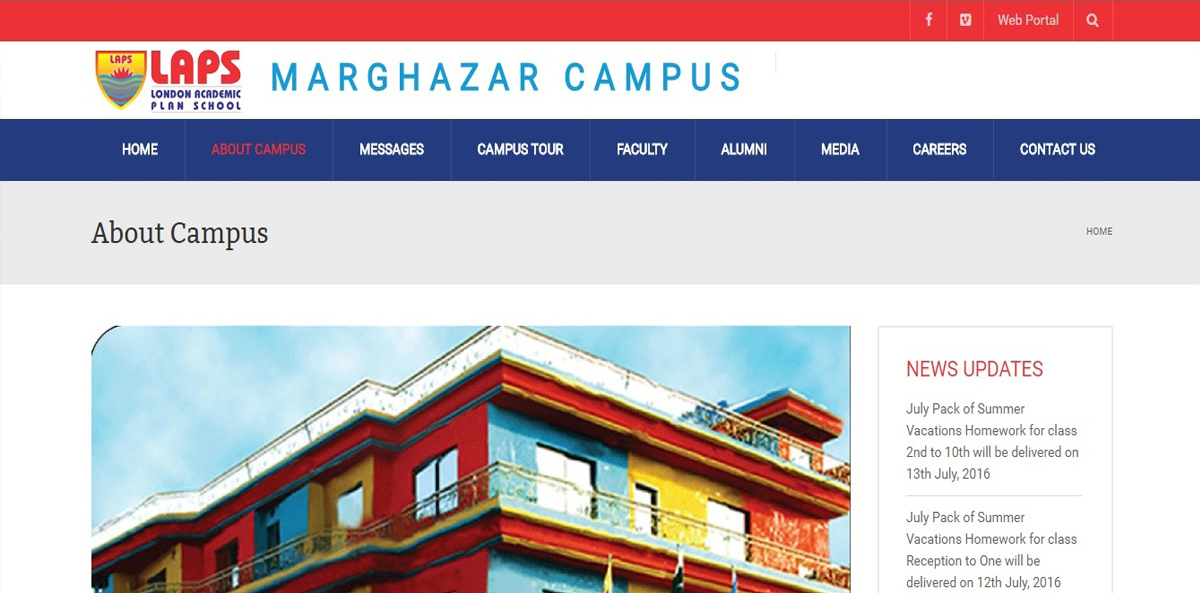 The Website of LAPS Marghazar Campus is live