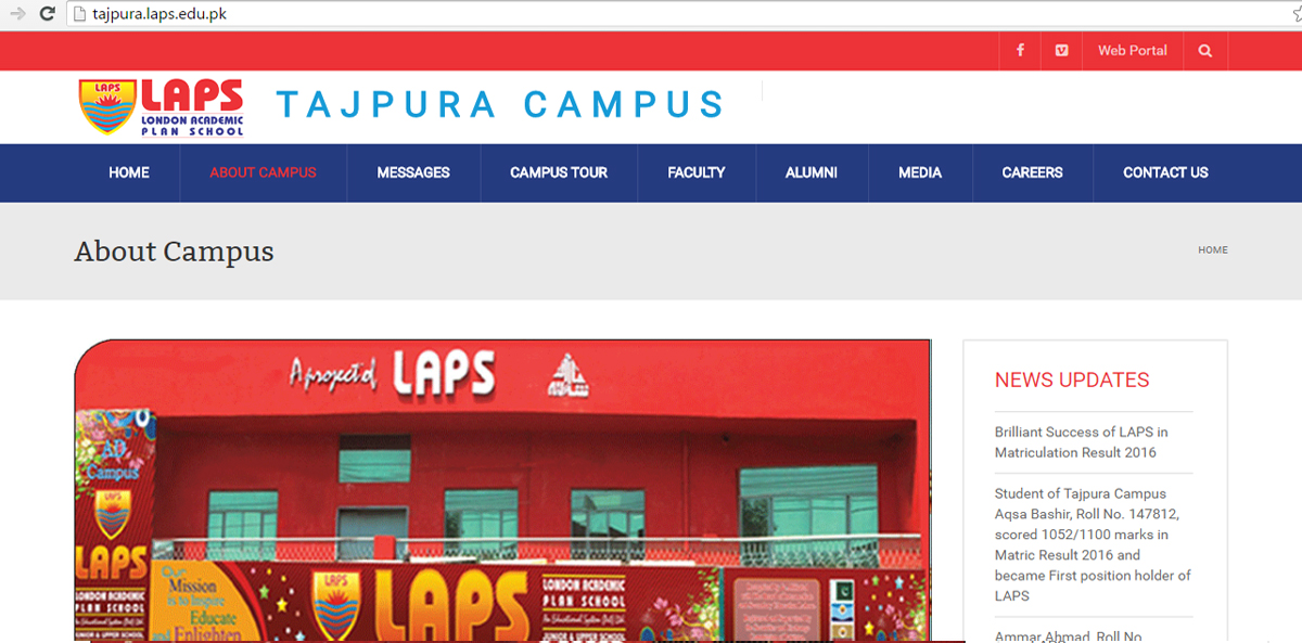LAPS Tajpura Campus website is live